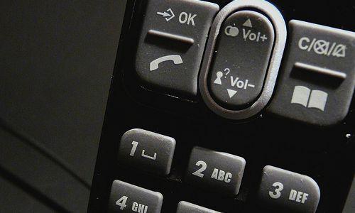 foto van de toetsen van een telefoon